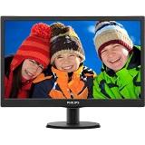 Monitor LED Philips 203V5LSB2/10, 19.5inch, TN panel, 1600x900, 16:9, 5 ms, 200 cd/mp, 600:1, 90/50, VGA, Kensington Lock, VESA, Negru