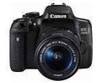 Kit Camera foto Canon DSLR EOS 750D + EF-S 18-55 IS STM Black, 25 MP