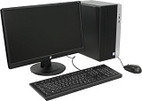 Bundle HP ProDesk 400 G4 + Monitor 20.7 Inch V212a, i5-7500, 500GB HDD, 4GB, DVD-RW, LAN, KB+M