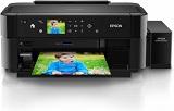 Imprimanta inkjet color CISS Epson L810, A4, 37ppm/38ppm color, Borderless print, CD/DVD print, display LCD color touch 6,9cm