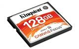 Compact Flash Card Kingston, Canvas Focus, 128GB