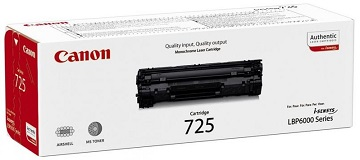Toner original Canon CRG725, black, capacitate 1600 pagini, pentru LBP6000, CR3484B002AA
