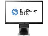 Monitor HP LCD EliteDisplay E221c, 21,5inch, IPS, 16:9, 7ms, 1000:1, VGA, DVI, DP, USB, WebCam