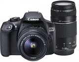 Camera foto Canon Dublu kit EOS-1300D + EFS18-55 + EF 75-300, 18MP, CMOS,3