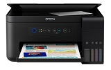 Multifunctional inkjet color CISS Epson L4150, A4, 15/33 ppm, fax, ADF, Wireless
