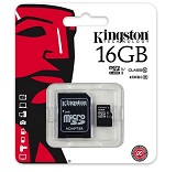 Card Micro SDHC Kingston 16GB, class 10, SDC10G2/16GB