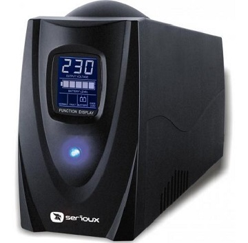 UPS Serioux, ProtectIT 850LS, 850VA, ecran LCD, negru