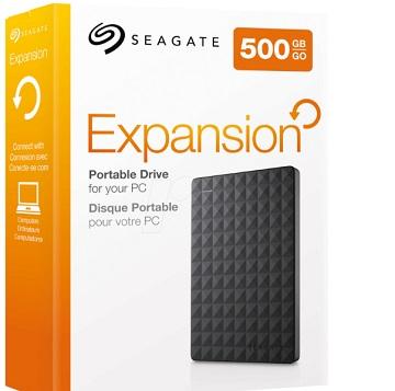 HDD extern Seagate, 500GB, Expansion, STEA500400, 2.5 in, USB3.0, negru