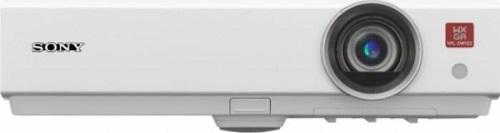 Proiector SONY VPL-DW122, 3LCD, WXGA 1280 x 800, 2600 lumeni, 2500:1, HDMI, D-Sub, boxe 1 x 1W, telecomanda, alb