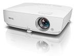 Videoproiector BENQ W1050, DLP 3D, Full HD, 2200 lm, 15.000:1, telecomanda, boxe, 2,5 Kg, alb