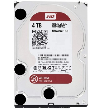 HDD Western Digital RED NAS WD40EFRX, 4TB, SATA 3, 64MB